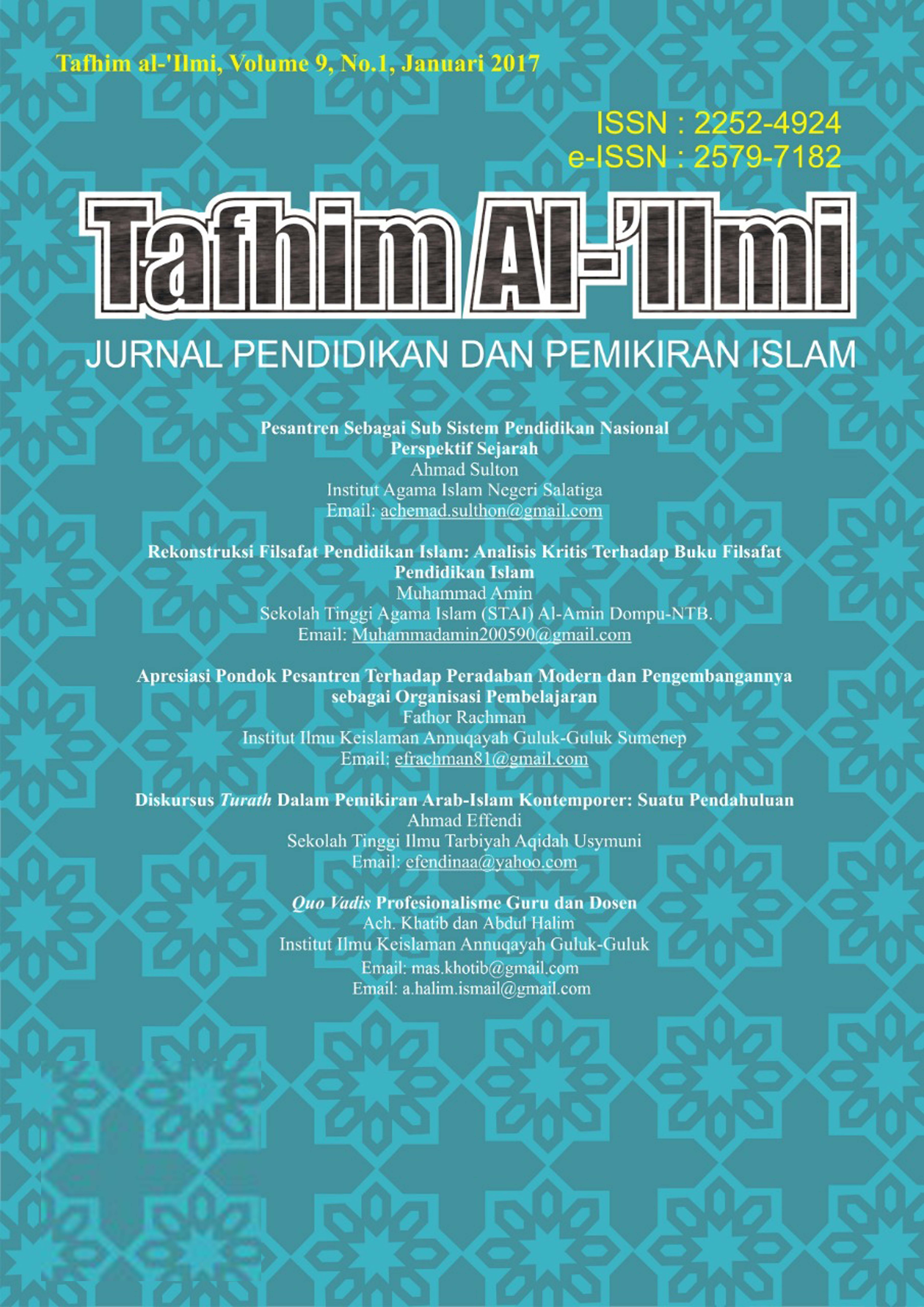 jurnal tafhim al-'ilmi