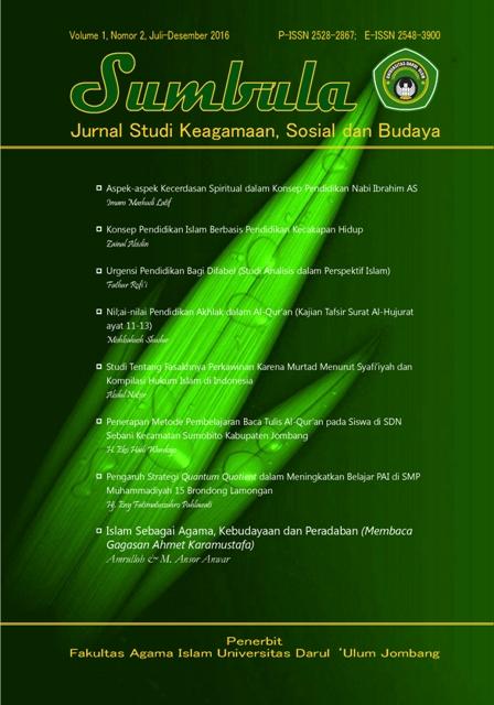 Sumbula: Jurnal Studi Keagamaan, Sosial dan Budaya