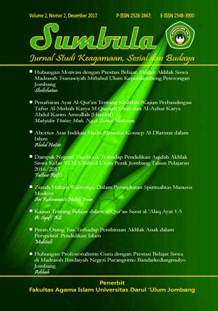 Sumbula : Jurnal Studi Keagamaan, Sosial dan Budaya